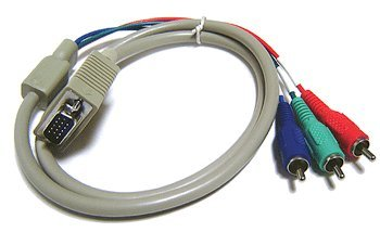 Component Video 3 RCA to D-sub 15 Pin Adapter Cable ()