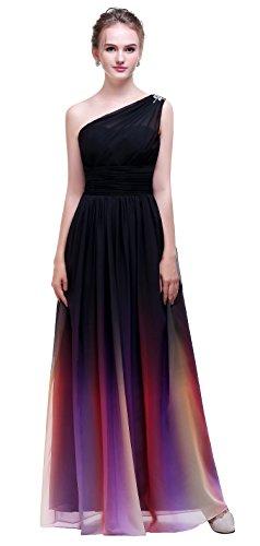 ombre evening dress - 3