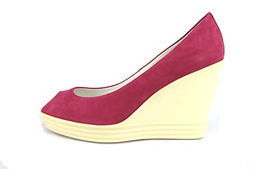 EU Hogan AH705 Wedges Fuchsia Leather Pink 35 Suede Woman Shoes 5 Rebel US Pumps Ow6rqgO