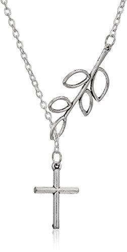 Trendy Cross Pendant Fashion Chain Necklace, 18, Silver