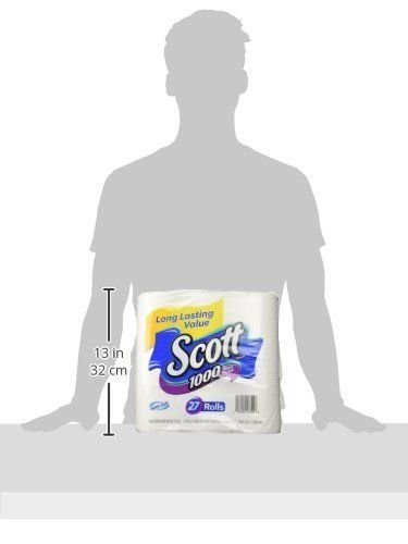 Scott 1000 Sheets Per Roll Toilet Paper, Bath Tissue, 27 Rolls