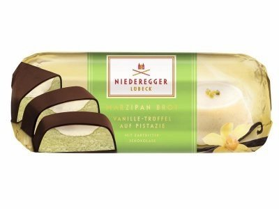 (Niederegger Marzipan Vanilla Truffle Pistachio Bar 75g (5-pack))