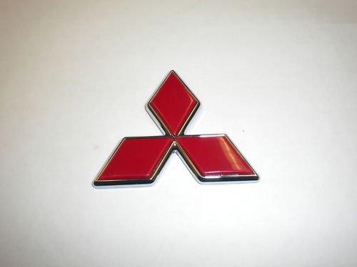 Genuine Mitsubishi Triple Diamond Emblem RED Rear MB882860 Galant 1994 1995 1996 1997 1998