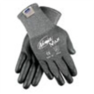 Memphis Gloves N9676GL Large Ninja Max 10 Gauge Cut Resistant Black DSM Dyneema Bi-Polymer Palm and Fingertip Coated Work Gloves with Knit Wrist, English, 15.34 fl. oz, Plastic, 1.6