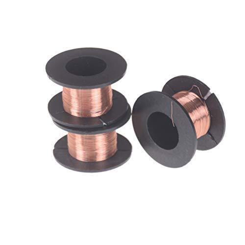 Oulensy 2 Pezzi 11M Filo 0,1 Millimetri Magnete Elettrico Meter Coil Winding QA di Rame smaltato Filo Nero Filo Magnetico per induttanza Bobina di rel/è