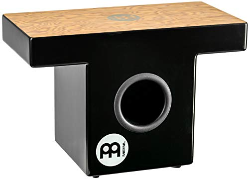 Meinl Slaptop Cajon Box Drum with Internal Snares and Forward Projecting Sound Ports - NOT MADE IN CHINA - Makah Burl Playing Surface, 2-YEAR WARRANTY (TOPCAJ1MB) ()