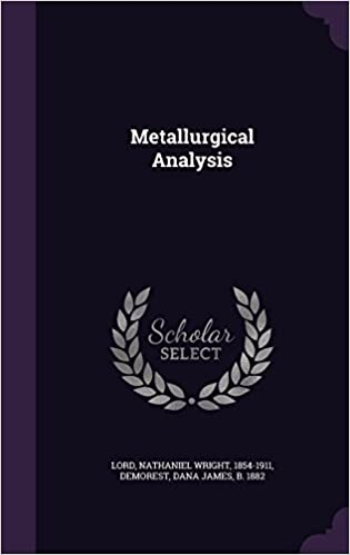 Book Metallurgical Analysis