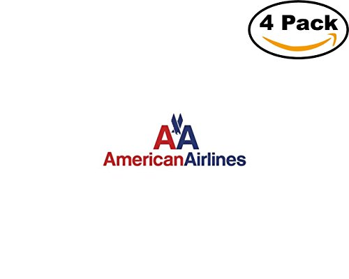 american airlines logo 4 Stickers 4x4 Inches Car Bumper Window Sticker Decal