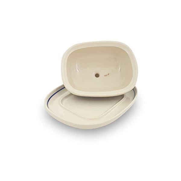 Bunzlauer Butter Dish with Lid Handle for 250 g Butter Decoration DEK 120