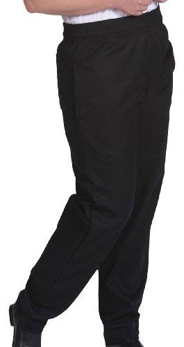 Edwards Garment Elastic Waist Baggy Chef Pant_BLACK_X-Large by Edwards Garment