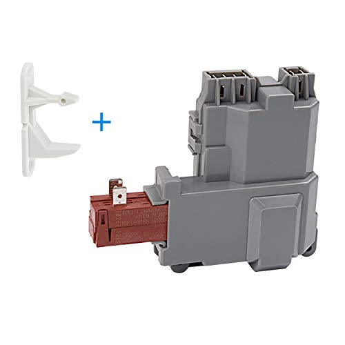 131763202 Washer Door Lock Switch Assembly with 131763310 Door Striker Replacement Part - Compatible with Frigidaire/Kenmore/Electrolux | Replaces 131763256 0131763202 131269400 131763200 ()