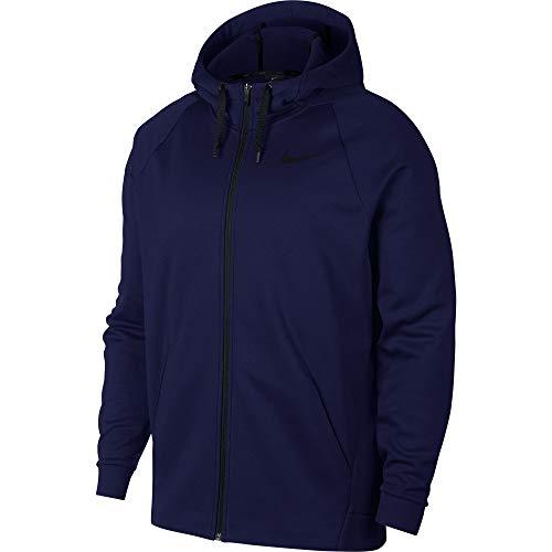 Nike Men's Full-Zip Training Hoodie Blue Void/Black, Size Medium