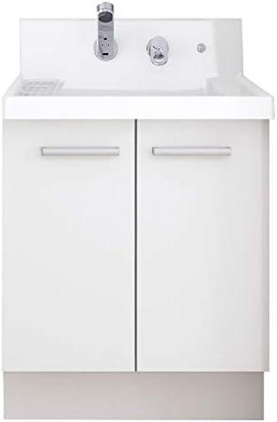 イナックス(INAX) 洗面化粧台 K1シリーズ 幅60cm 両開きタイプ シングルレバーシャワー水栓 K1N4-605SY/YS2H 一般地用 グロスホワイト(YS2H)