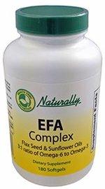 1000 mg EFA Complex (180 Softgels) Flax Seed & Sunflower Oils Ideal 3:1 Ratio of Omega-6 to Omega-3 Essential Fatty Acids