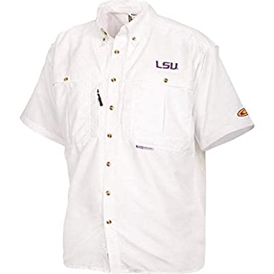 Drake LSU Short Sleeve Cotton Wingshooter Shirt