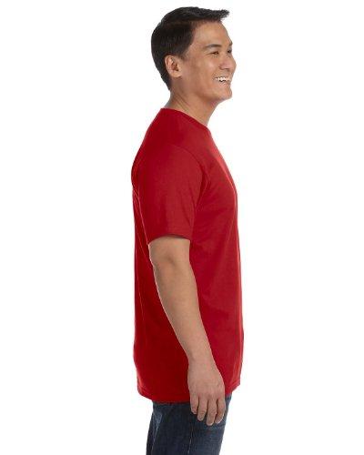 Anvil - Camiseta con cuello redondo de manga corta para hombre Rosso