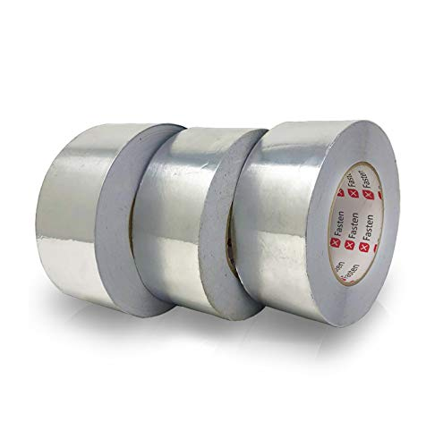 XFasten Professional Aluminum Foil Tape, 3.6 mil, 2 Inches x 55 Yards (3-Pack) ()
