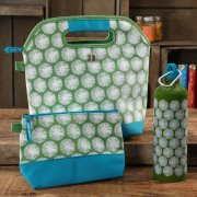 The Pioneer Woman Lunch Tote with Mini Bag and Water Bottle, Happiness