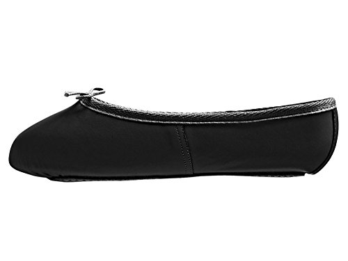 Adults & Childs Black Leather Full Sole Ballet Shoes All Sizes By Katz Dancewear (Ladies Size UK 6)