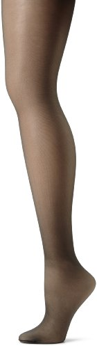Hanes Women's Non Control Top Sandalfoot Silk Reflections Panty Hose, Jet, E/F