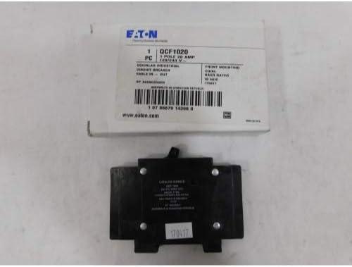 EATON CUTLER HAMMER QCF1020 QCF BKR 1P 20A 120 240VAC