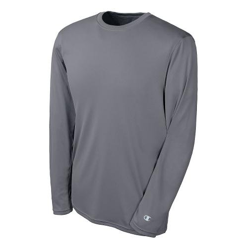 Champion Double Dry Long Sleeve Tee-XS-Stone Grey