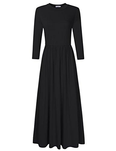 long black plus size dress - 2