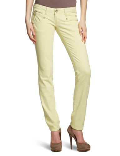 Freeman T.Porter - Pantalón para mujer Amarillo (712 34 Vanilla L34)