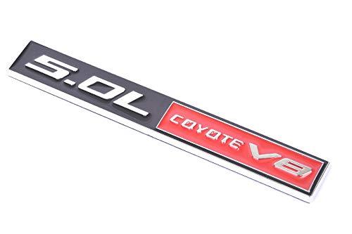 Zcardon 5.0L Coyote V8 Engine Swap 4951cc Fender Hook Trunk Emblem 3D Badge Replacement for Mustang /& F150 Black Red