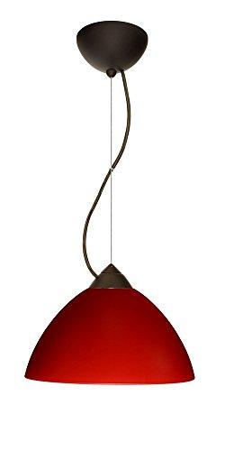 Besa Lighting 1KX-420131-BR Tessa - One Light Pendant, Choose Finish: BR: Bronze, Choose Mounting Option: 1KX: Dome Canopy Cable Fixture, Choose Lamping Option: 75W Incandescent-A19 Medium-120v