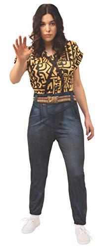 Rubie's Women's Stranger Things 3 Eleven's Battle Look Costume Jumpsuit, Multi Colored, ()