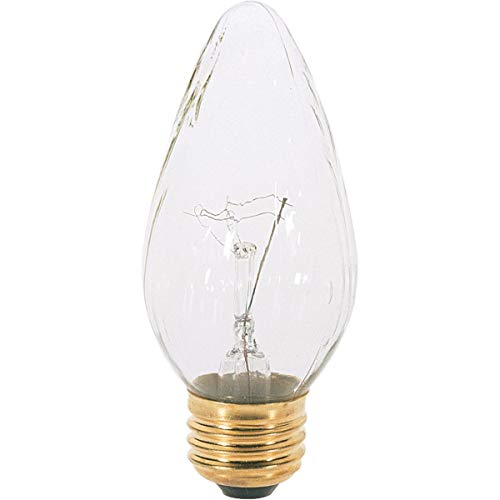(Satco S2767 120V Medium Base 40-Watt F15 Light Bulb,)