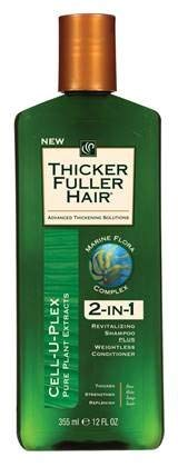 Thicker Fuller Hair 2 In 1 Shampoo Plus Conditioner 12 Ounce by Thicker Fuller Hair