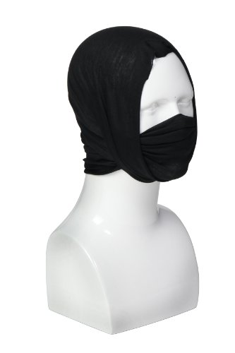 Spec-Ops Brand Recon-Wrap Multi-Season, Multi-Mode Head Gear (Black)