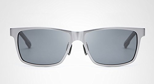 Que Alta Marco MY Calidad Gafas Oculos polarizada Ciclismo con Shades para Silver aleación de de Hombre Color Resistencia y Pesca Blue de gray Conduce Sol Gray qPZPIAw