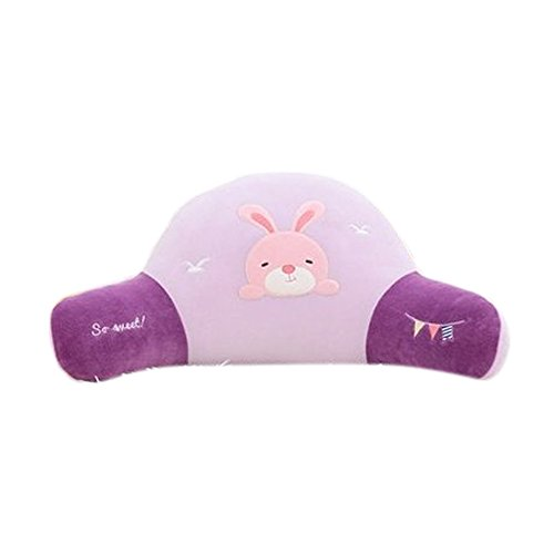 Rabbit Chairs Arm - Novelty Lovely Stuffed Plush Bunny Rabbit Children Cartoon Lumbar Back Pillow Bed Rest Support Reading Pillows with Arm Sofa Chair Cushion Couch Cushion for Kids Bedroom Office