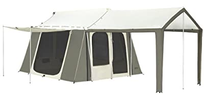 6133 Kodiak Hydra Shield Canvas 12X9ft 6-Person Tent w/ Deluxe Awning