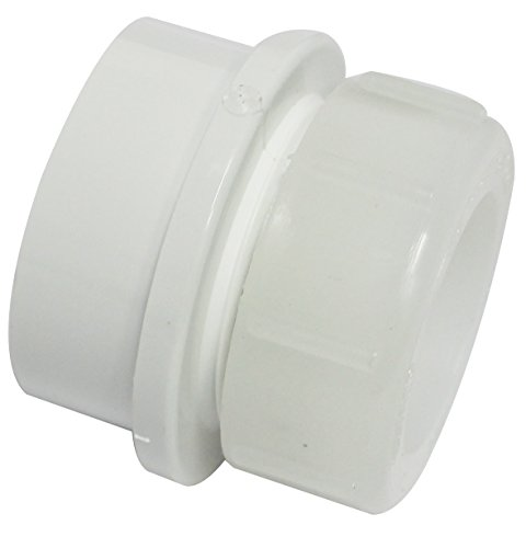 Canplas 192806A PVV Trap Adapter, 1 1/4-Inch x 1 1/2-Inch (Coupling Joint Slip)