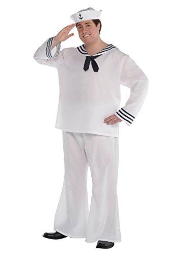 AMSCAN Sailor Man Costume - Plus Size - Chest Size 52