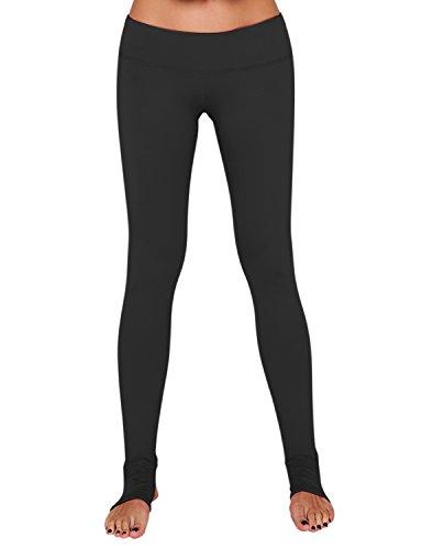 YOGARURU Women's Active Workout Running Yoga Stirrup Pants Hidden Pocket