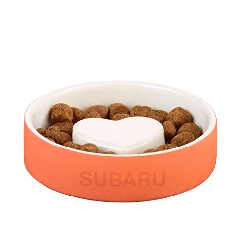 - SUBARU Logo Small Pet Dog Cat Slow Feeder Bowl Feeder Healthy Feed Dish Ceramic