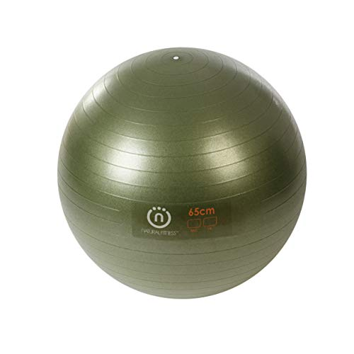 Ecowise Naturals - Natural Fitness Pro Burst Resistant Exercise Ball (Olive, 65-cm/Medium )