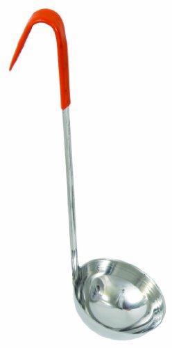Crestware 8-Ounce Orange Handle Ladle