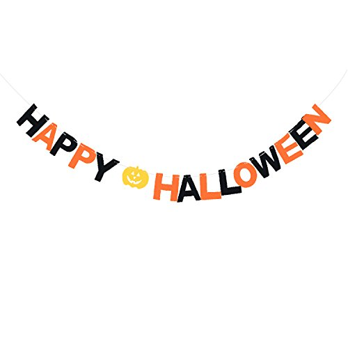 Halloween Banner, March Durable and Reusable Happy Halloween