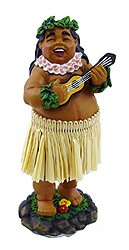 KC Hawaii Braddah with Ukulele Mini Dashboard Doll 4 inches