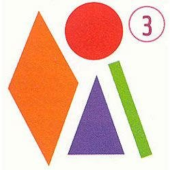 Sticky Shapes - Jumbo Mosaics - Package of 225