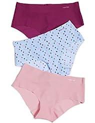 Calvin Klein Underwear Women's Invisible Hipster 3 Pack