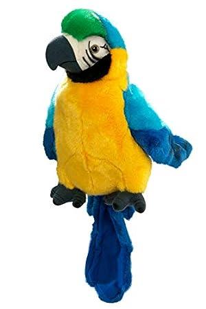 Carl Dick Peluche - Loro marioneta de mano (felpa, 25cm) [Juguete] 2430: Amazon.es: Juguetes y juegos