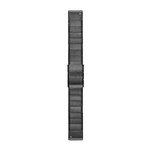 Garmin 010-12740-02 Quickfit 22 Watch Band - Carbon Gray DLC Titanium - Accessory Band for Fenix 5 Plus/Fenix 5 by Garmin