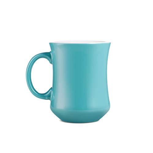 LOVERAMICS Hutch Coffee Mug, 250ml (8.5 oz) (Teal, 2)